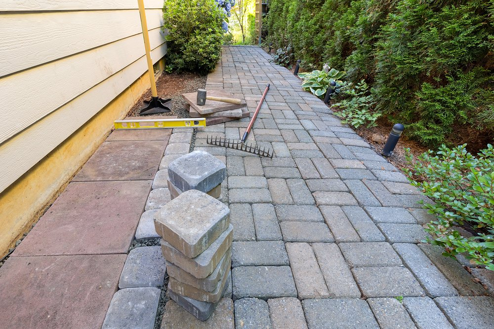 paver pathway hardscaping in asheville nc