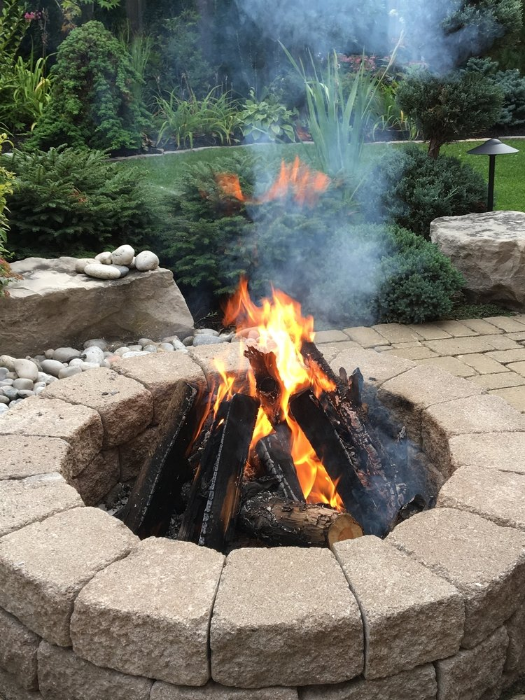 nicely made firepit for hardscaping designs asheville nc